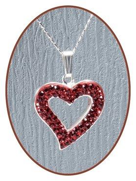 925 Sterling Zilveren 'Heart' Special Ashanger  - ZSP047