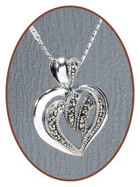 925 Sterling Zilveren 'Heart' Special Ashanger  - ZSP060