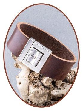 QúeB Memorials Lederen As Armband - ZA021