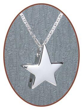 925 Sterling Zilveren 'Ster' Design Ashanger - Z011