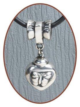 925 Sterling Zilveren Asbedel - Z014