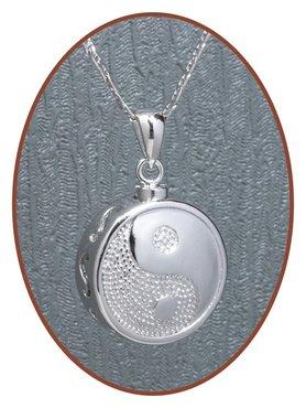 925 Sterling Zilveren 'Yin-Yang' Design Ashanger - Z016
