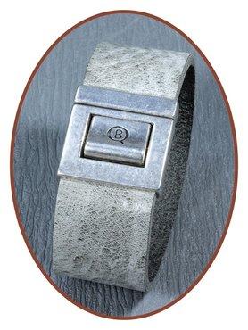QúeB Memorials  Lederen Heren As Armband - ZA003