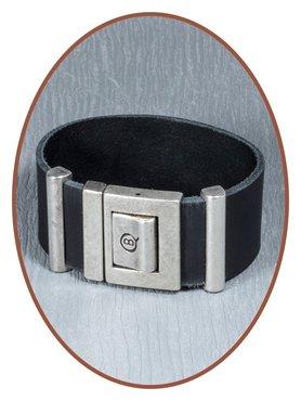 QúeB Memorials Lederen Heren As Armband - ZA009