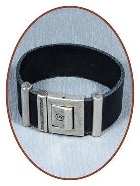 QúeB Memorials  Lederen Special As Armband - ZA009S