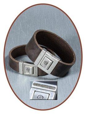QúeB Memorials  Retro Bruin Lederen Special As Armband - ZA011S