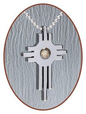 JB Memorials Premium Tungsten Carbide Designer Ashanger 'Cross' - TU017