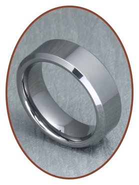 Tungsten Carbide Graveer Gedenk Ring - XR04