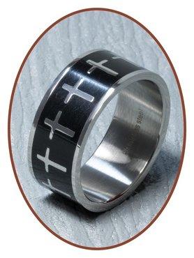 316L Edelstalen Graveer Ring - XR09