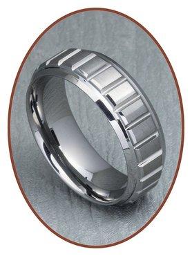 Tungsten Carbide Graveer Gedenk Ring - XR10