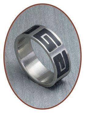 316L Edelstalen Graveer Ring - XR14