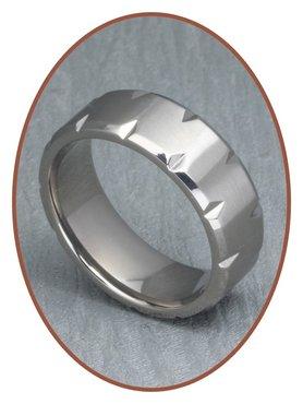 JB Memorials Titanium Tekst Gedenk Ring - XR16