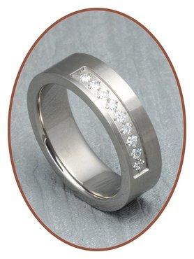 JB Memorials Titanium Tekst Gedenk Ring - XR17