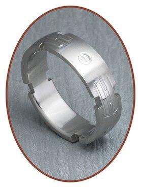 316L Edelstalen Graveer Ring - XR19