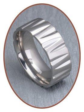 Titanium Graveer Gedenk Ring - XR20