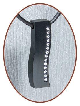 Titanium JB Memorials Premium 'Black Wave' Design Ashanger - T008