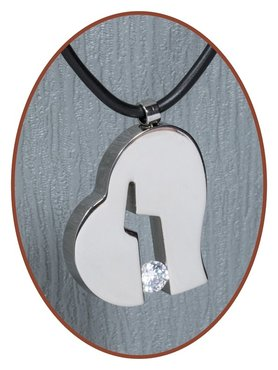 Titanium JB Memorials Premium 'Gebroken hart' Ashanger - T019