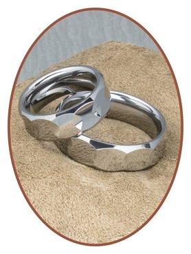 Forever Love Collection Tungsten Carbide Relatie Trouw Ringen Set - TC567