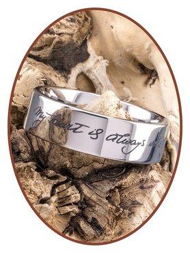 JB Memorials Titanium Handschrift Gedenk Ring - TIR002H