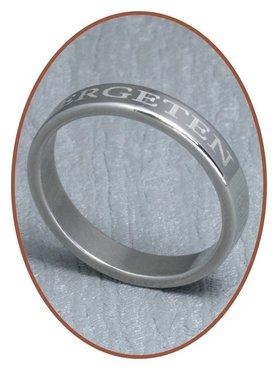 316L Edelstalen Tekst Graveer Ring - TR008