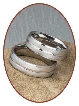 Titanium Relatie Trouw Ringen Set - TR3894