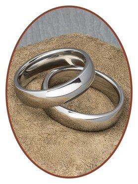 Titanium Relatie Trouw (Vingerafdruk) Ringen Set - SR004