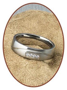 JB Memorials Dames Titanium Tekst Gedenk Ring - STR1705D