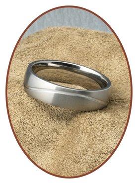 JB Memorials Titanium Tekst Gedenk Ring - STR1705H