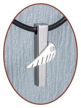 Titanium JB Memorials Premium 'Angelwing' Design Ashanger - T004