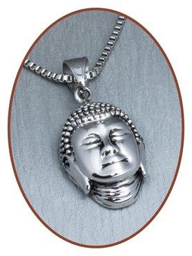 316L Edelstalen JB Memorials 'Buddha' Assieraad - RSP122