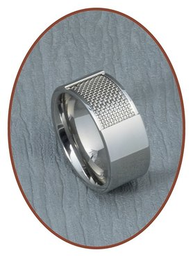 316L Edelstalen Graveer Ring - RSSM02