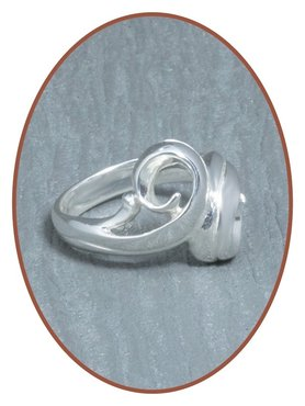 JB Memorials Sterling Zilveren Dames As Ring - RB073