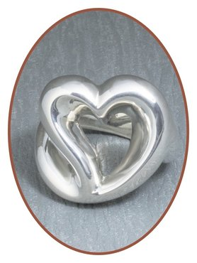 JB Memorials Sterling Zilveren XL Dames 'hart' As Ring - RB074