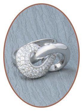 Sterling Zilveren Zirkonia Dames As Ring - RB028