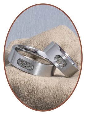 JB Memorials Edelstalen Dames / Heren As Ring - RB044