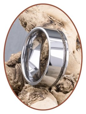 JB Memorials Tungsten Carbide Brede Heren As Ring - RB046H