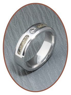 JB Memorials Cobalt Chrome Dames As Ring NIEUW - RB047CC