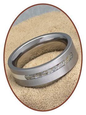 JB Memorials Titanium-Zilver As Ring - RB050