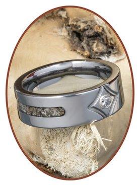 JB Memorials Tungsten Carbide Dames As Ring - RB051
