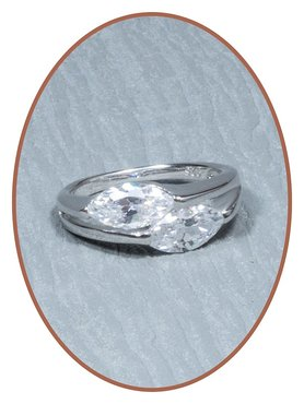 Sterling Zilveren Zirkonia Dames As Ring - RB013