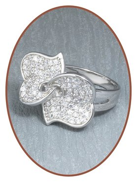JB Memorials Sterling Zilveren Dames As Ring - RB021