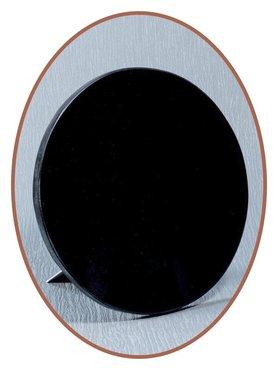 Luxe Gedenksteen in Zwart Marmer Hart - MAR003