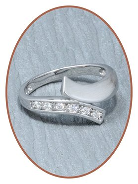 JB Memorials Sterling Zilveren Zirconia Dames As Ring RB001-Z