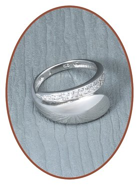 JB Memorials Sterling Zilveren Dames As Ring - RB003