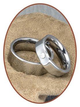 Forever Love Collection Tungsten Carbide Relatie Trouw Ringen Set - KR8037