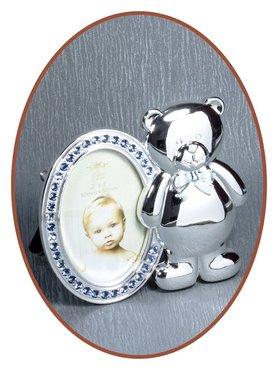 Silver plated fotolijstje 'Beertje' met Zirconia - M060