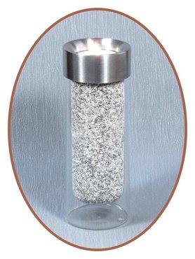 Edelstalen RVS Glas Midi Urn / Theelichthouder  - M298