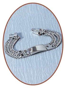 Edelstalen RVS  Heren Graveer Gedenk Armband - JBM002