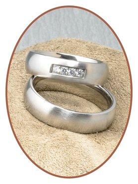 Titanium Relatie Trouw Ringen Set - JT006