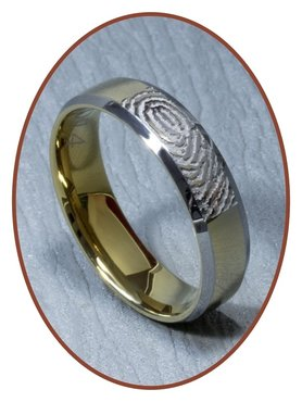 Tungsten Carbide Vingerafdruk Graveer Ring - AA002V